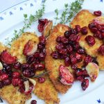 Chicken Cutlets with Garlic Roasted Cranberries