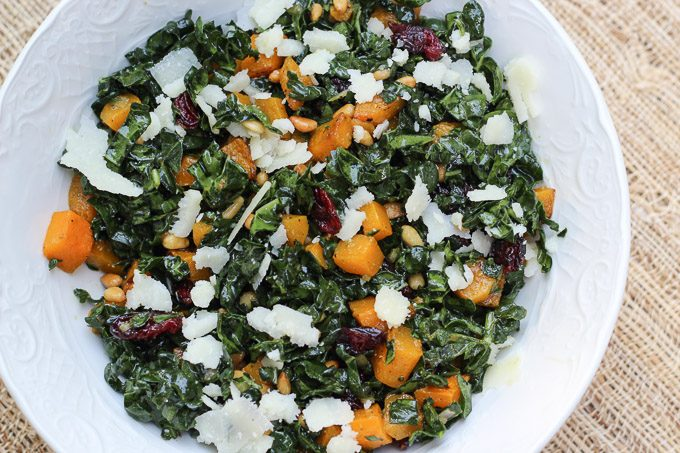 Roasted Butternut Squash Salad with Dried Cranberries