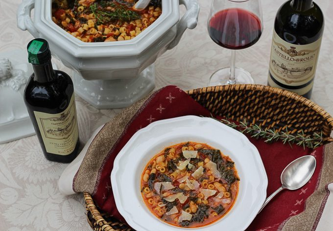 Traditional Italian Soup Paired with Chianti Classico