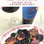 Pork Tenderloin with Prunes and Red Wine Sauce