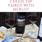 Warm Shiitake Mushroom & Cheese Dip Paired with Merlot