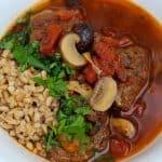 Provencal Lamb Daube with Olives, Mushrooms, and Tomatoes