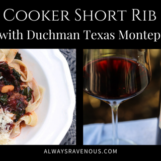 Slow Cooker Short Rib Ragù with Texas Montepulciano #WinePW