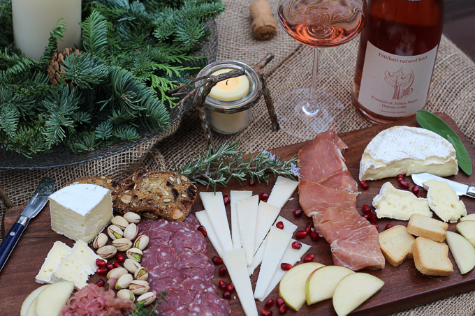 Charcuterie Board Paired with Pét-Nat