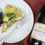 Spinach Artichoke Frittata with Goat Cheese