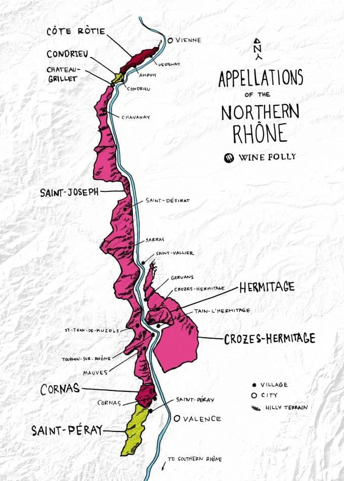 Map of Northern Rhône
