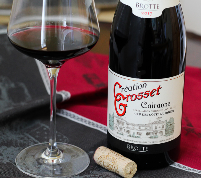 Brotte Cairanne Domaine Grosset, Cru des Côtes du Rhône