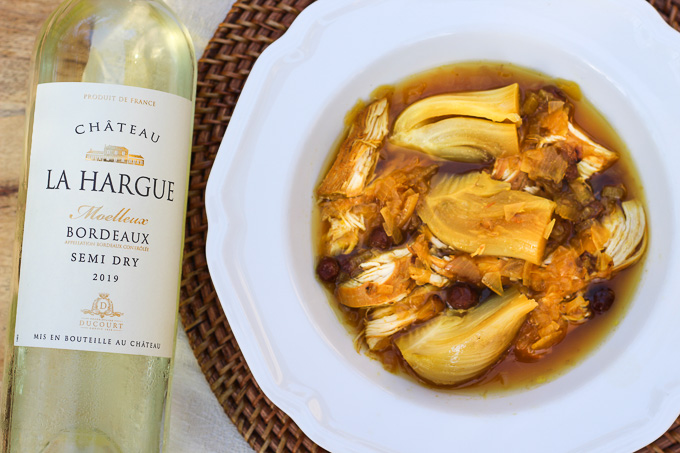 Saffron and Fennel Chicken with Sweet Bordeaux Wine
