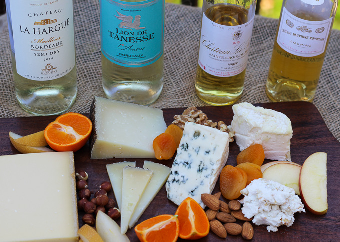 Sweet Bordeaux Wines Paired with a Cheese Board