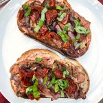 Bison Steak Tartines