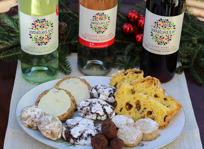 Frizzante with Holiday Sweet Treats