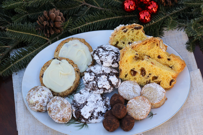 Platter of Holiday Sweet Treats