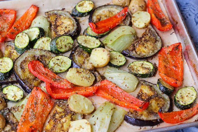 Sheet-Pan Roasted Mediterranean Vegetables