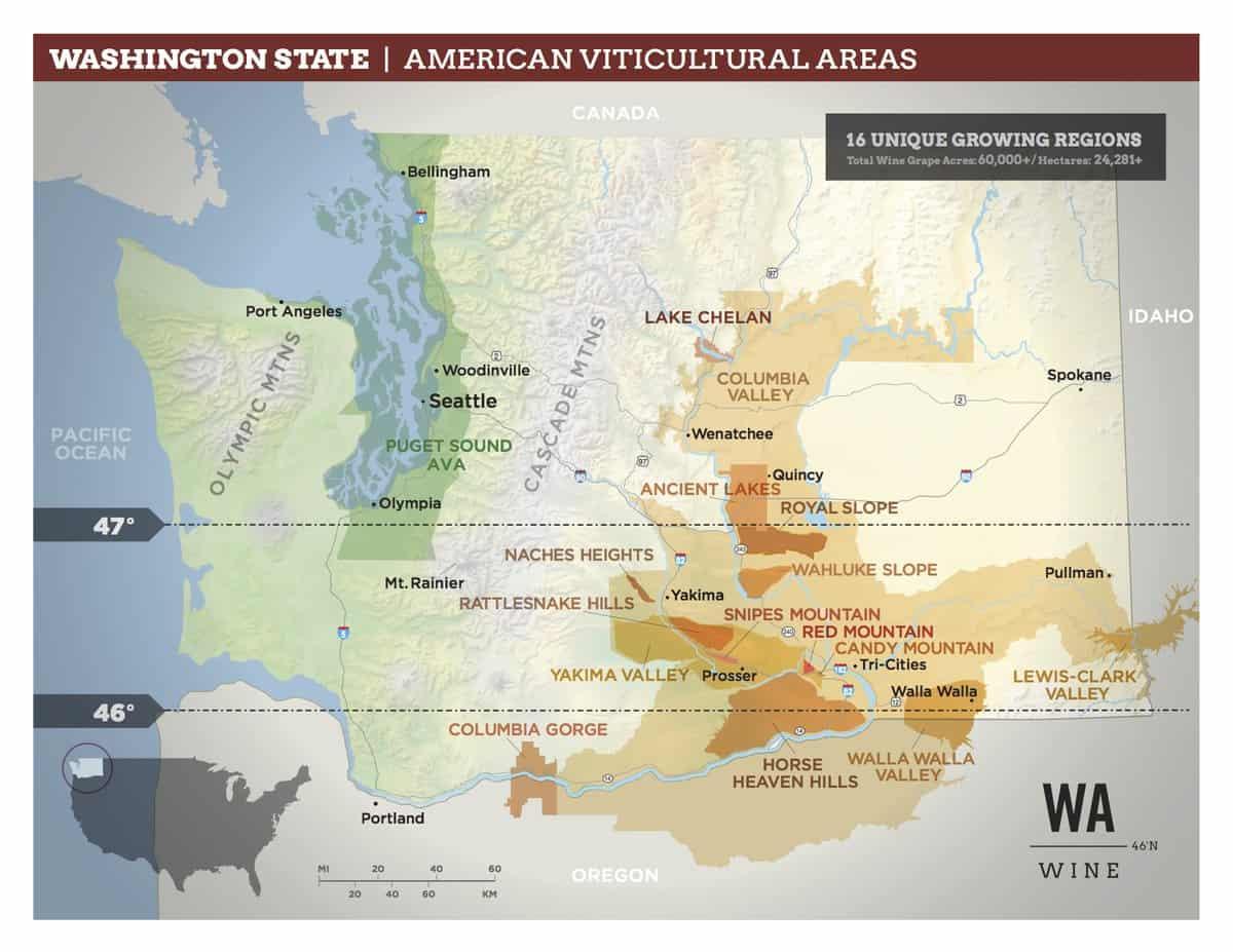 Washington AVA Map