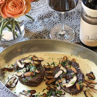 Filet Mignon paired with Washington Yakima Valley Cabernet Sauvignon