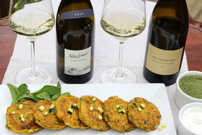 Zucchini Cakes Paired with Sancerre and Pouilly Fumé