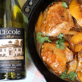 Spicy Peach Skillet Chicken Paired with L'Ecole No 41 Chenin Blanc