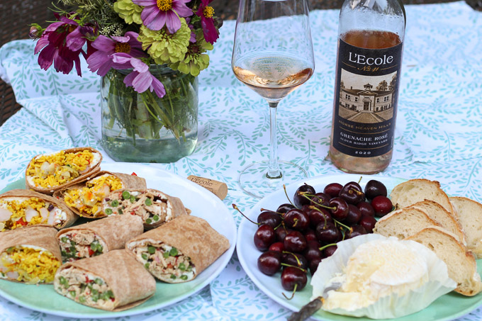 Picnic Wraps Paired with Rosé