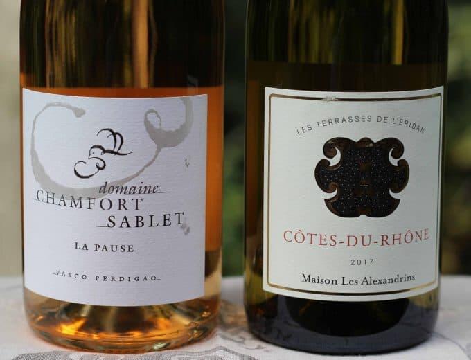 Côte du Rhône Rosé and White wines