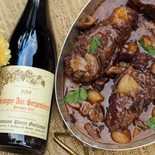 Coq au Vin à la Julia Child and Savigny-Lès Beaune Pinot Noir